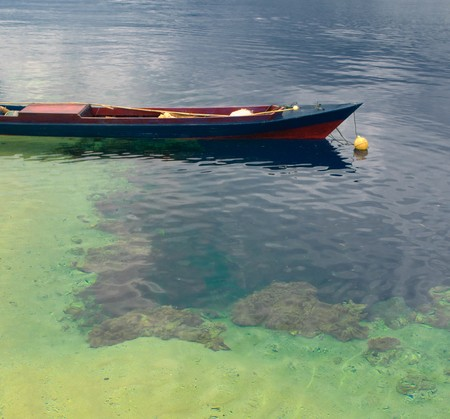 coral bark: Traditional indonesian fishing boat