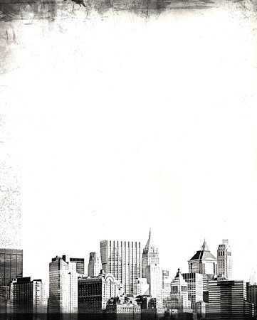 grunge image of new york skyline Stock Photo - 4375732