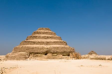 djoser: Step pyramid in Saqqara, Egypt