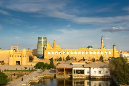 Panorama of an ancient city of Khiva, Uzbekistan photo