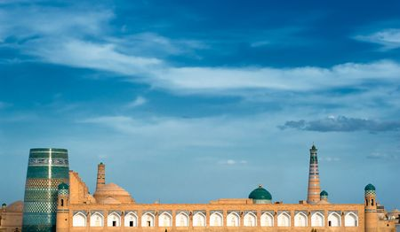 Panorama of an ancient city of Khiva, Uzbekistan Stock Photo - 4622992