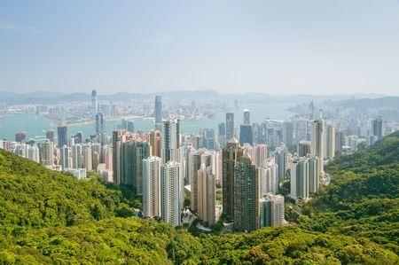 panorama of hong kong photo