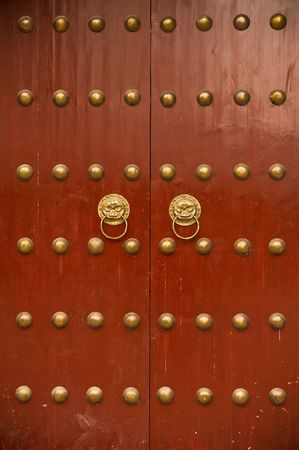 door knobs: ancient chinese door