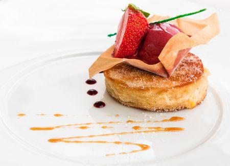 fine dining: fancy dessert
