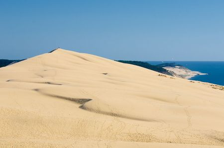 the largest: Pyla dune, the largest sand dune in Europe Stock Photo