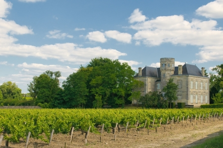 terroir: Chateau and vineyard in Margaux, Bordeaux, France