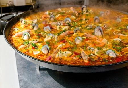 closeup of paella Stock Photo