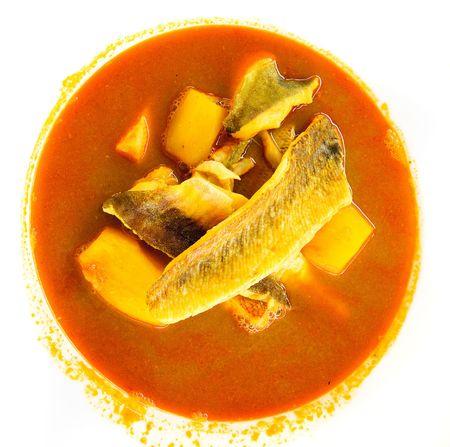 marseille: Bouillabaisse, traditionele vissoep van Marseille, Frankrijk