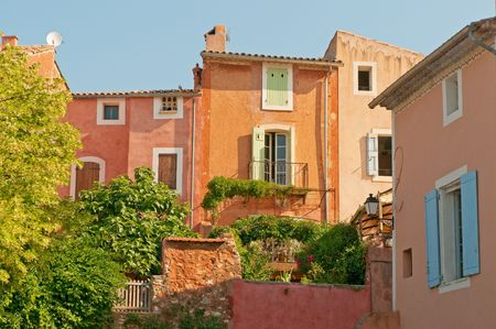 french countryside: Provencal village of Roussillon