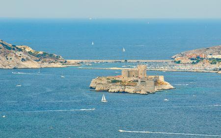marseille: het Château d'If, Marseille, Frankrijk