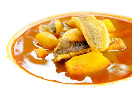 Bouillabaisse, traditional fish soup from Marseille, France photo