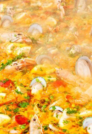 closeup of paella photo