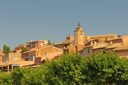 yellow  ochre: Provencal village of Roussillon