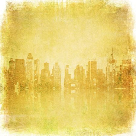 grunge image of new york skyline Stock Photo - 5420385
