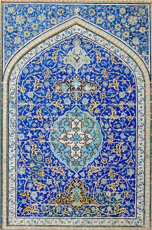 gekachelten Hintergrund, orientalischen Ornamenten von Moschee in Isfahan, Iran