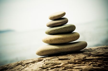 Pebble stack, shallow focus Stock Photo - 5735476