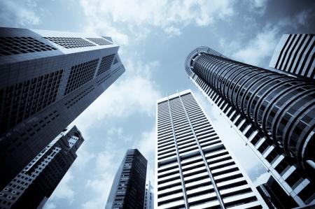 bedrijfshal: stedelijke cityscape Stockfoto