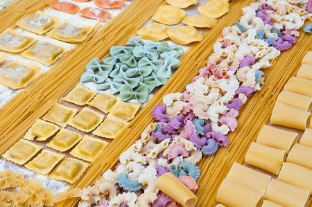 various italian pastas photo
