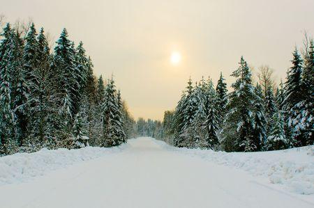 destination scenic: winter road