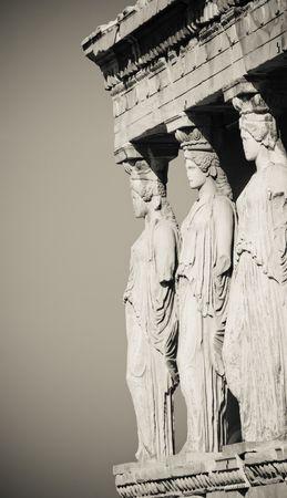caryatids: caryatids, acropolis, athens Stock Photo