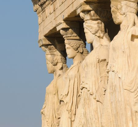 acropolis: caryatids, acropolis, athens Stock Photo