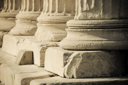 Griekse kolommen Stockfoto
