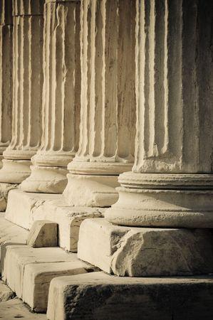 greek columns photo