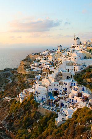 cycladic: Villaggio di Oia Santorini island, Grecia