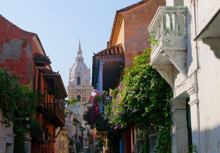 Streets of Cartagena, Colombia photo