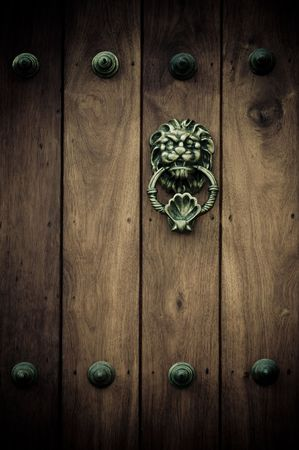 wood carving door: Close-up of old doors Cartagena, Colombia