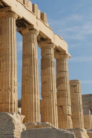 greek columns, acropolis, athens photo