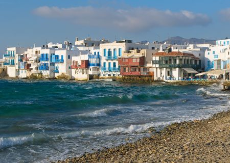 Little Venice, Mykonos Island, Greece photo