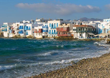 the little venice: Little Venice, Mykonos Island, Greece