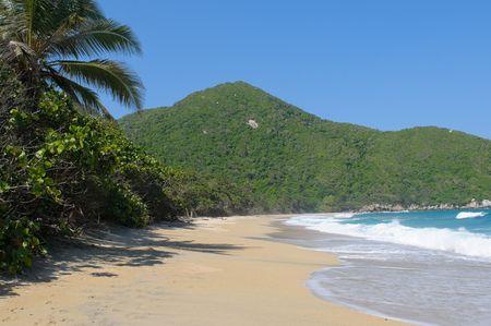 nudist: Nudist Beach, Tayrona national park, Colombia Stock Photo