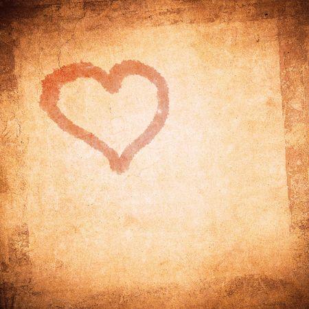 corazon: grunge valentine day background