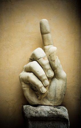 constantine: Hand of emperor Constantine, Capitoline, Rome, Italy