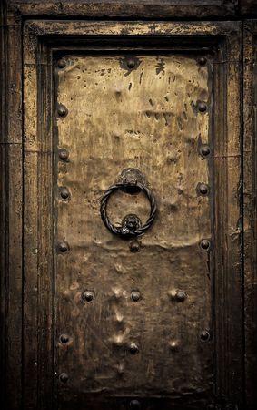 knobs: Old door, Rome, Italy