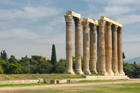 Greek columns, Temple of Olympian Zeus, Athens Stock Photo - 6719446