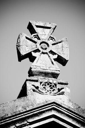 maltese: maltese stone cross Stock Photo