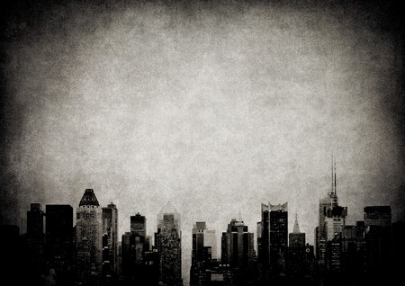 grunge image of new york skyline Stock Photo - 6911016