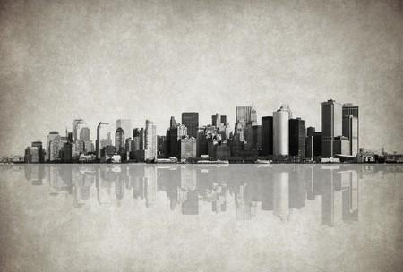 york: grunge image of new york skyline