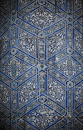 middle eastern: Tiled background with oriental ornaments