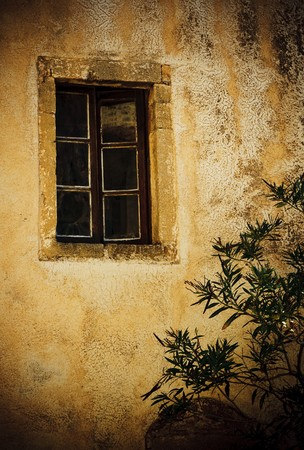 Window of old house photo