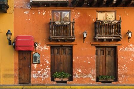 balcony door: Calles de Cartagena de Indias, Colombia