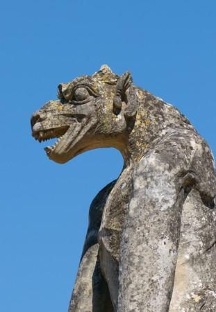 chimera: chimera, medieval gothic architecture Stock Photo