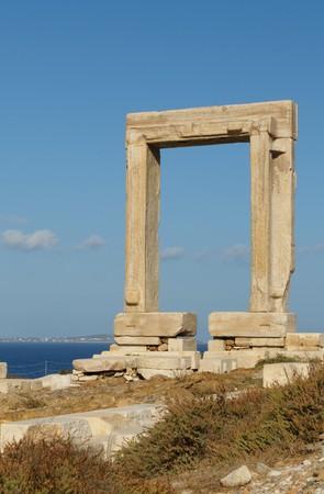 naxos: Portara gate, Naxos, Greece Stock Photo