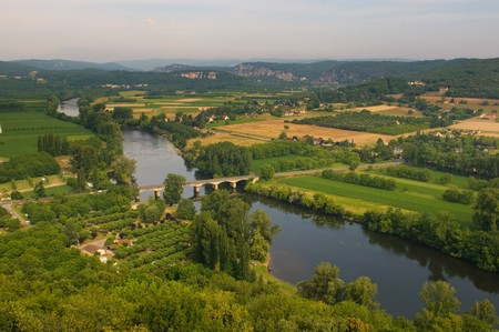Valley of Dordogne river, France Stock Photo - 7088194