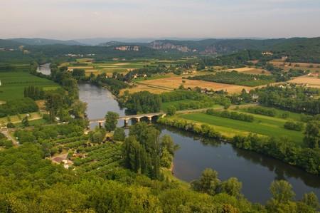 Valley of Dordogne river, France Stock Photo - 7088194