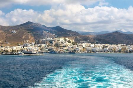 Panorama of Naxos, Cyclades, Greece photo