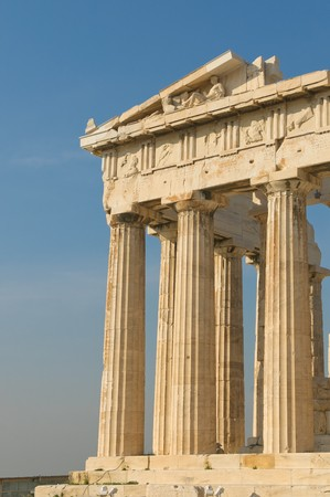 greek columns, acropolis, athens Stock Photo - 7140395